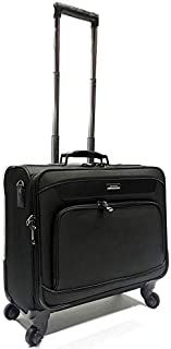President business trolley bag, pilotcase with laptop comaprtment and 4 wheels