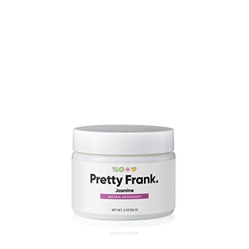 Pretty Frank Natural Deodorant Jar - No Aluminum Deodorant for Women, Men, Teens, Kids – Paraben Free Sulfate Free Deodorant Featuring Shea Butter, Coconut Oil, Vitamin E, & Baking Soda - Jasmine