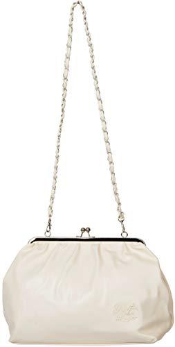Küstenluder Damen Tasche Dorena Kisslock Logo Handtasche Creme