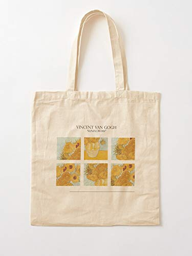Sconosciuto Gogh Van Nature Flower Paiting Vicent Flowers Style Art I Anh Canvas Grocery Bags Tote Bags with Handles Durable Cotton Shopping Bags