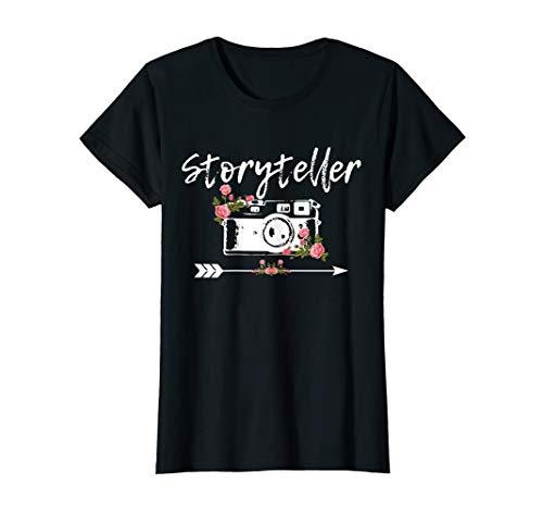Damen Fotograf Vintage Kamera Storyteller Fotografie Geschenk T-Shirt