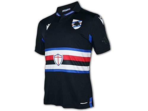 Macron Sampdoria Genua 3rd Shirt 20 21 schwarz U.C.Sampdoria Heim Trikot Jersey, Größe:XL