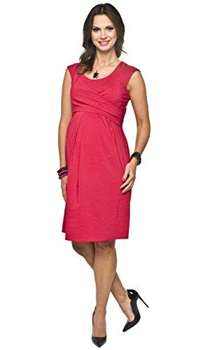 Torelle Maternity Wear Robe d'allaitement 2 en 1 élégante et confortable avec fonction d'allaitement - Rouge - 36