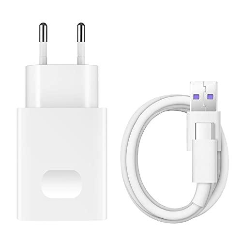 Telefonmax Cargador rápido QuickCharge fuente de alimentación de carga rápida tipo C para Huawei P30, P30 Pro, P30 Lite, P20 Pro, Lite, Dual, P10, P10 Plus, P9, P9+ Mate 20/20 Pro, 20 Lite