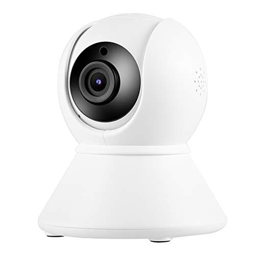 LXYPLM Cámara Vigilancia Cámara De Seguridad YT08 Red De Rotación Cámara De Seguridad WiFi 1080p Soporte para Tuya 110-240V EE. UU. Conecte Blanco