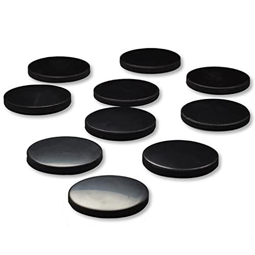 Shungite World, Shungite EMF - Adhesivo para teléfono móvil y ordenador, diseño de punto redondo, protección contra radiaciones, protector 5G (pulido 20 mm, 3 unidades)