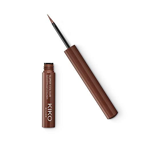 KIKO Milano Super Colour Waterproof Eyeliner 08 | Delineador de ojos líquido con color ultracubriente y resistente al agua