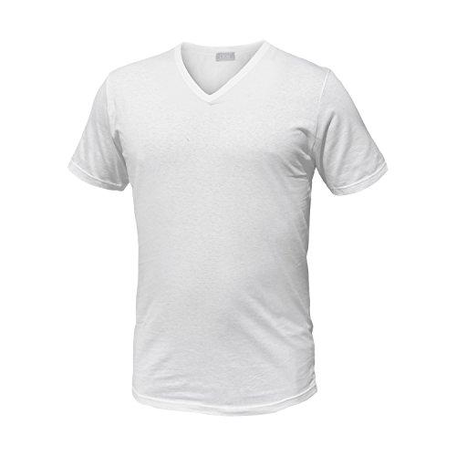Liabel Pack 6 T-Shirt Manica Corta Cotone Bianco Assortito Art.4428 (6 Pack Scollo V. Bianco - 6 / XL)