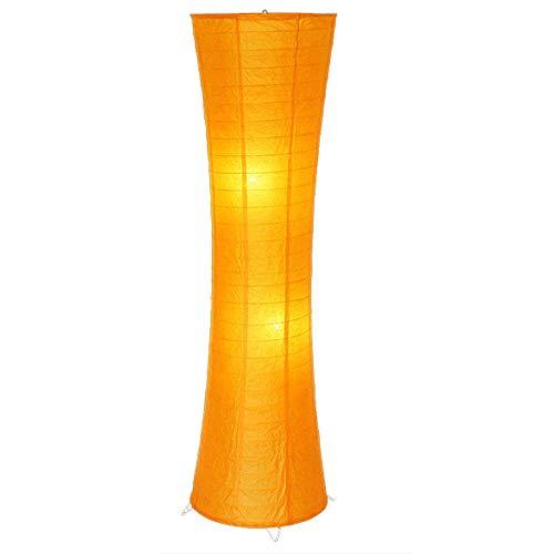 Floor Lamp Standing Light Vertical Lamps Lights Floor Lamps Modern Bed Room Paper Lamp Floor Living Room Stand Lamp LED Floor Lamp Loft Floor Lamps Indoor Lighting (Color : Orange)