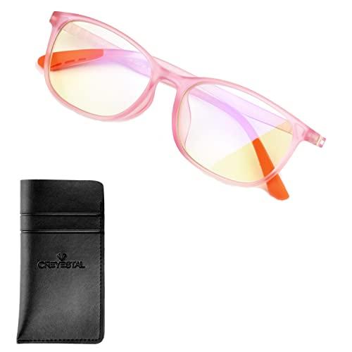 CREYESTAL Gafas Anti Luz Azul Niñas, de 5 a 12 años, Alta Protección frente a cualquier pantalla (Ordenador, Smartphone, Videojuegos, Tablet)
