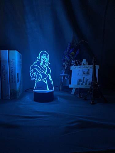 Lámpara de ilusión 3D, lámpara de anime, sensor táctil, batería nocturna, USB, cambio de color continuo, para niños, decoración moderna, no incluye mando a distancia