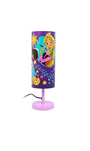 Lámpara de mesa para niños en diferentes diseños a elegir con interruptor basculante, cable de 1,50 m y base de metal (Rapunzel I)