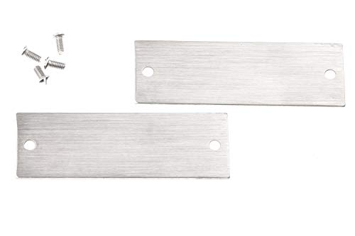 HUBER naambordje 12931, vervangend naamplaatje roestvrij staal met roestvrijstalen schroeven
