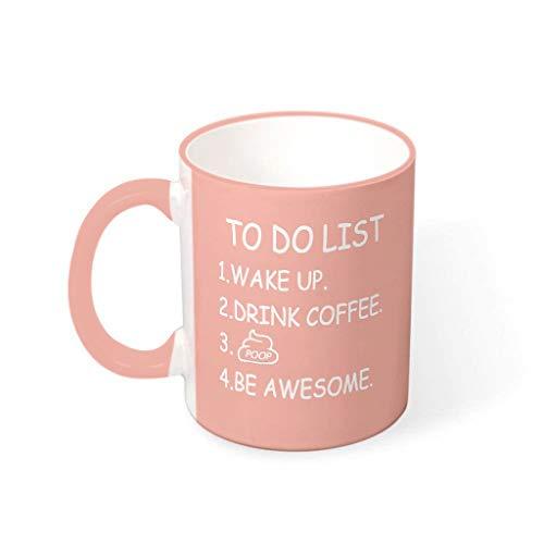Tasse mit Henkel für Müsli und To-Do-Liste, glatte Keramiktasse – Kackhaufen, Humor, Geschenk für Herren, geeignet für Zuhause, vcbe 330 ml