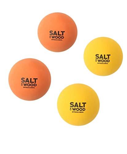 Pelota para frescobol de goma, apta para el juego de Salt on Wood, perfecto para partidos en la playa, amarillo, 4 Bälle
