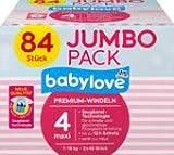 babylove Pañales premium tamaño 4, maxi 7-18 kg, Jumbo Pack 2 x 42 unidades, 1 x 84 unidades