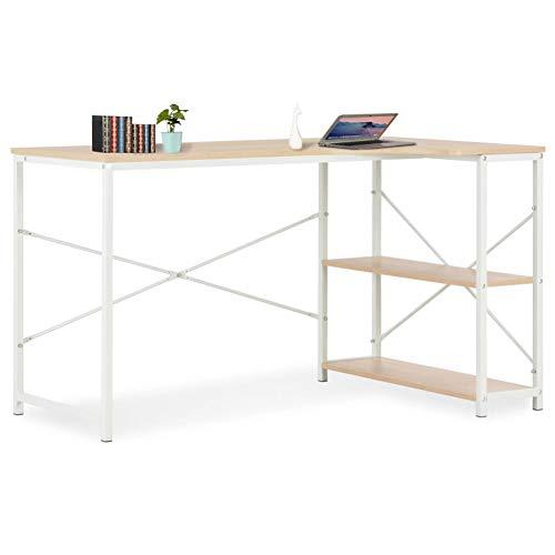 Cikonielf - Mesa de PC, diseño limpio y refrescante, tablero aglomerado de escritorio ancho y metal pulverizado robusto y duradero, estilo minimalista 120 x 72 x 70 cm (marrón roble)