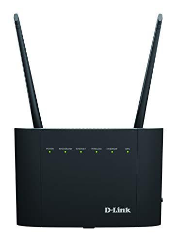 D-Link DSL-3788 Modem Router, Wireless AC1200 Gigabit, VDSL/ADSL, VDSL2 +, 802.11ac Wave 2, MU-MIMO, Dual-Band, fino a 866 Mbps su banda a 5 GHz o 300 Mbps su banda a 2,4 GHz, porta USB 2.0