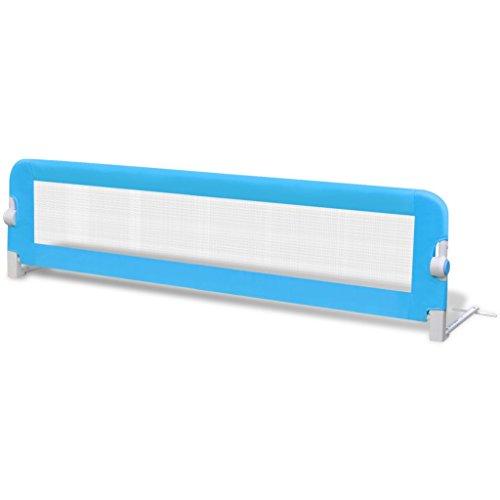 Festnight Barandilla de Seguridad Infantil para la Cama Color Azul 102 x 42 cm