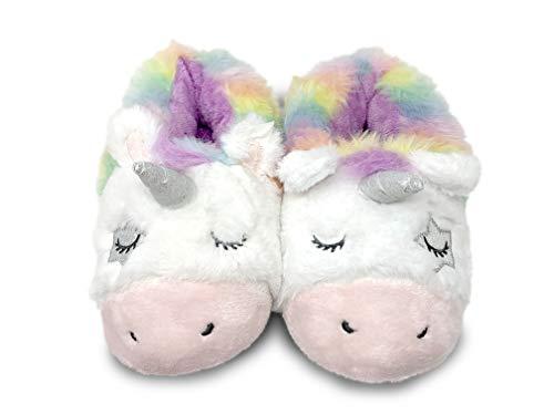 Unicorn Slippers for Women, Cute Slippers for Women, Animal Slippers for Women, Cute House Slippers for Women, Home Slippers for Women, Womens Animal Slippers (Rainbow Unicorn, Medium)