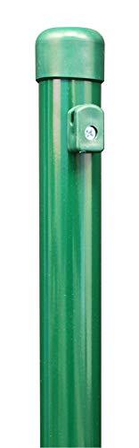 GAH-Alberts 613914 Zaunpfosten für Maschendrahtzäune | für die Befestigung mit Einschlag-Bodenhülsen | zinkphosphatiert, grün kunststoffbeschichtet | Länge 1155 mm | Pfosten-Ø 34 mm