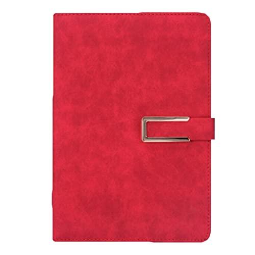 HYAN Cuaderno para Trabajos autoayuda Cuadernos Cuaderno Diario de Noticias Chino Estilo Duro Notas de Negocios 130 Hojas de Papel