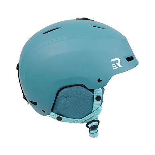Retrospec Zephyr Ski & Snowboard Helmet with 9 Vents; Matte Teal Dusk, Small 52-55.5cm
