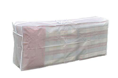 Wetterschutzhülle für Sitzpolster - transparent - Tragetasche für Gartenmöbel Auflagen Kissentasche für Hochlehner Niedriglehner