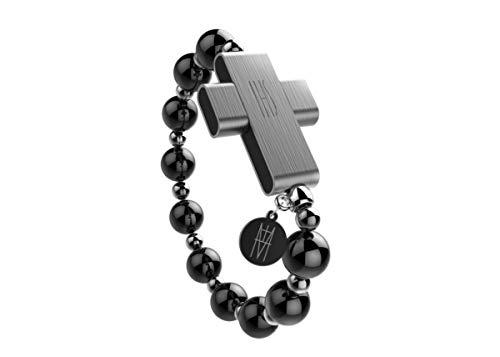 GTI Click to Pray eRosary - Pulsera digital para la oración con conexión Bluetooth, resistente al agua, carga inalámbrica, apta para las actividades deportivas, peso 24 g, color negro, unisex