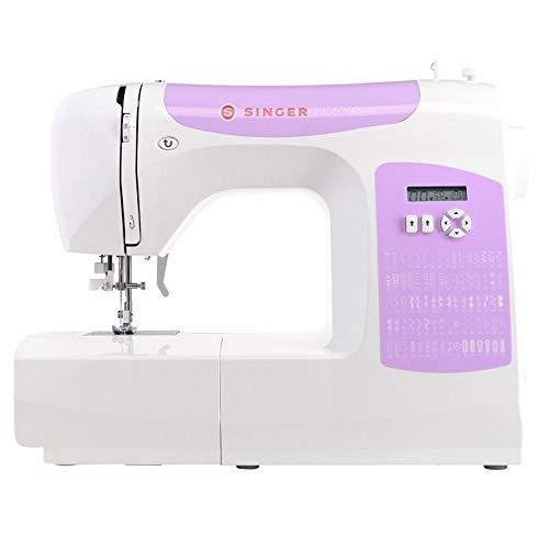 Singer macchina da cucire elettronica C5205 con luci LED, display, braccio libero, piano prolunga.