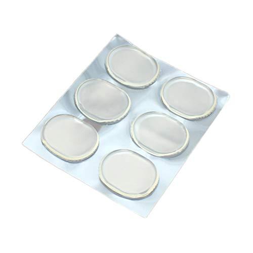 VORCOOL Packung Anti-Rutsch-Blasen-resistent Rücken-Fersenpolster Griffe-Einlagen Silikon-Gel-Fußpflege Rücken-Fersenkissen für High Heels Blasen (Transparent)
