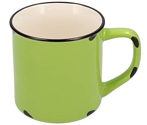 Tony Brown Hartwaren Kaffeebecher klein 300 ml in Emaille-Optik (1er, Grün)