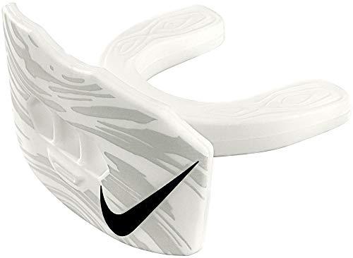 Nike Game-Ready Lip Protector Mundschutz mit Lippenschutz und Strap, Senior, weiß