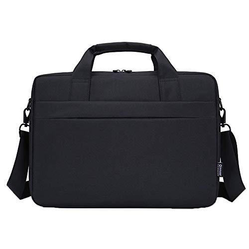 GUOCU Bolso Bandolera/Maletín para Portátli, Funda Protectora Laptop Sleeve Dura y Impermeable para iPad Pro/Ordenador Notebook/MacBook Air & Pro,Negro,14