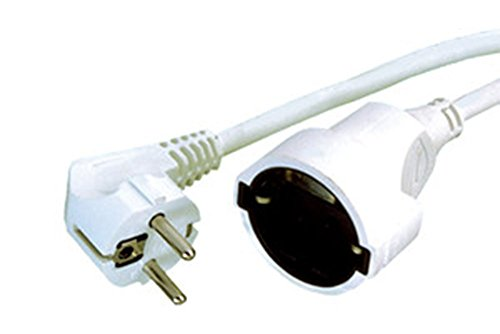 Electro DH 36.762/1/B -Verlängerungskabel,Weiß ,1m x 1,5 mm