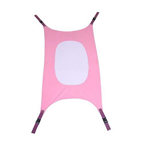 DOO Draagbare mesh baby wieg hangmat, veilige en verwijderbare baby bed schommel elastische hangmat verstelbaar. roze