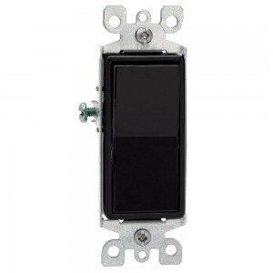 Leviton 5601–2E luz interruptor, interruptor basculante, Decora polo–black-2pk