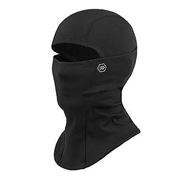 CoolChange Thermal Ski Balaclava Winter Face Mask for Men Women Biking Motorcycle Balaclava Neck Warmer Cold Weather Black Medium