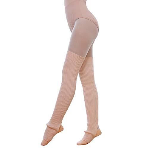 URSING Overknee Stulpen für Damen Gestrickt Beinstulpen Kniestrümpfe Klassische Winter Stiefel Socken Beinlinge Strümpfe Knöchelwärmer Beinwärmer Oberschenkel Yoga Socken Boot Cover Leggings (Rosa)