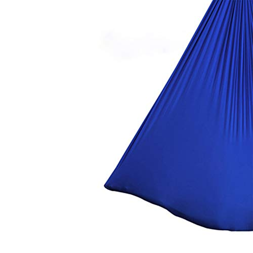 LYKH Sling Supplies Sling de Yoga para Principiantes, Correas estiradas de Gran altitud, Hamaca de Yoga microelásico aéreo Hamaca Hamaca aérea,Royal Blue