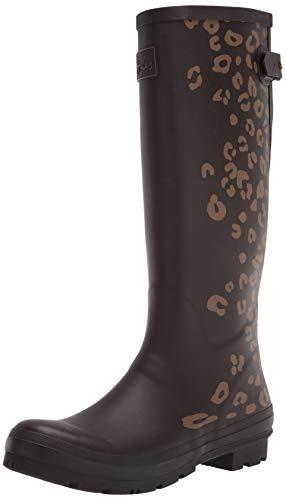 Joules Print, Botas Welly para Mujer, Borde de Leopardo marrón, 42 EU