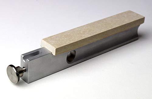 Belgischer Brocken Dorolist-Schleifhilfe I Gelber Körnung 8000-10000 auf Aluminiumträger I Format 100x17x6 mm I Messer-Schärfer kompatibel mit Lansky-EZE Lap Schleifsystem
