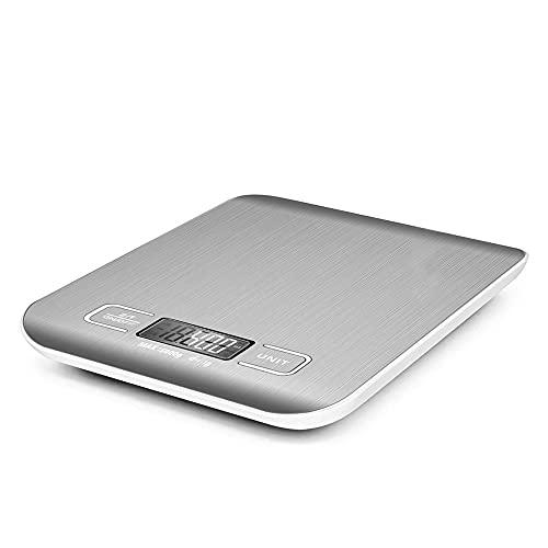 iKALULA Balance de Cuisine, Electronique Balance Numérique de Cuisine Acier Inoxydable Balance Electronique Digital avec affichage LCD et fonction tare haute précision jusqu'à (capacité:1g - 5 kg)