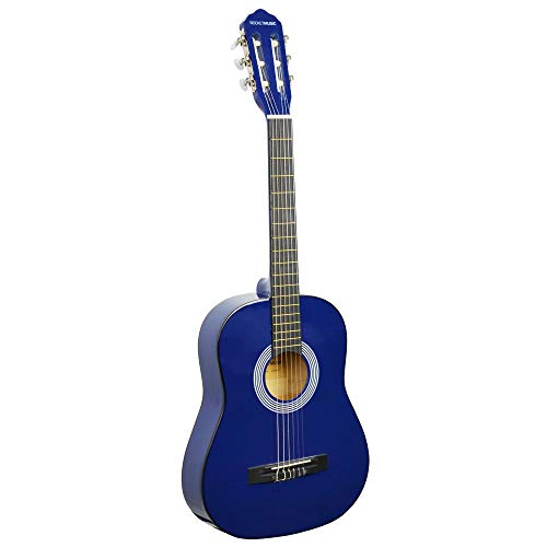Rocket CG34BL - Guitarra clásica española de tamaño 3/4