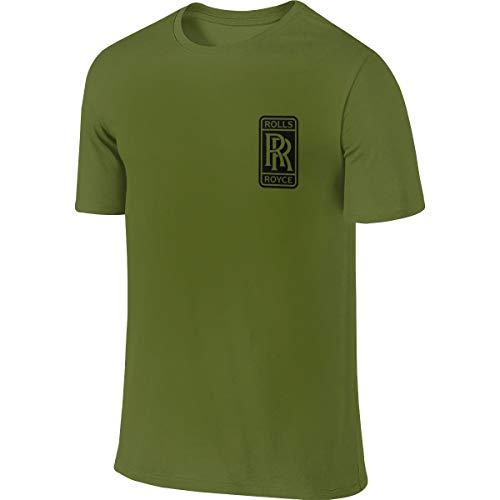 LAURDE New Designed T Shirt Rolls Royce Logo Fashion Funny T Shirts Short Sleeve for Male Moss Green M
