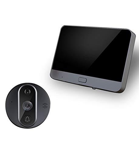 XXHDEE Timbre Inalámbrico con Cámara, HD Video Timbre Inteligente WiFi, Batería de 5000mAh, Visión Nocturna, Comunicación Bidireccional