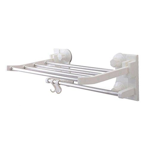 RENJUN Toallero de toallero para colgar toallero, toallero con ventosa Poroso impermeable