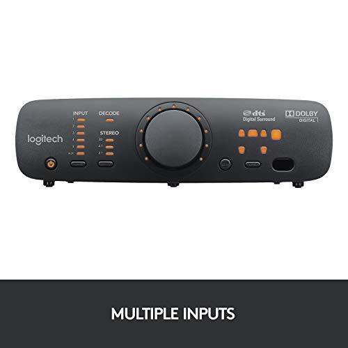 Logitech Z906 5.1 Surround Sound Speaker System, THX, Dolby & DTS Certified, 1000 Watts Peak Power, Multi -Device, Multiple Audio Inputs, UK Plug, PC/PS4/Xbox/Music Player/TV/Smartphone/Tablet