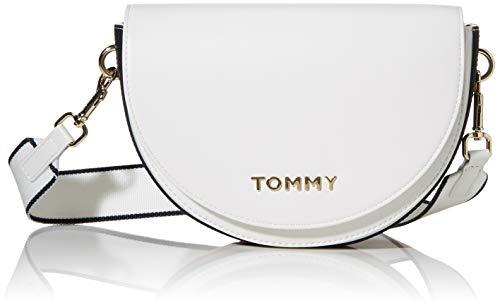 Tommy Hilfiger Tommy Staple Saddle, Borse Donna, Bianco (Bright...