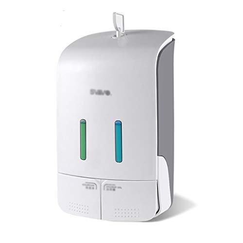 Dispensadores de Loción y de Jabón Liquid Dispenser 550ml de pared de ducha del champú Gel automático de líquidos Dispensador Cocina Baño Cocina Baño ( Color : Gris , tamaño : 24.5*11.9cm )